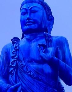 Blue buddha flip